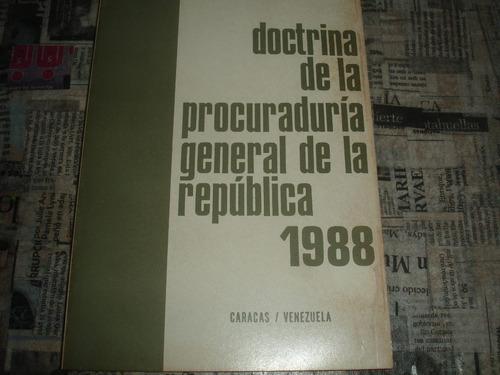 doctrina de la procuraduria general de la republica 1988