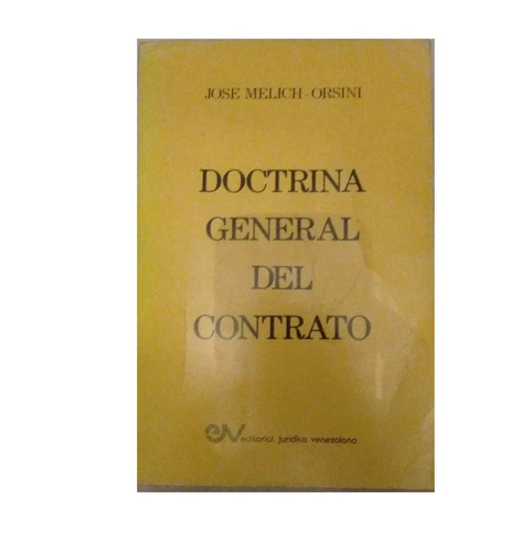 doctrina general del contrato josé melich orsini