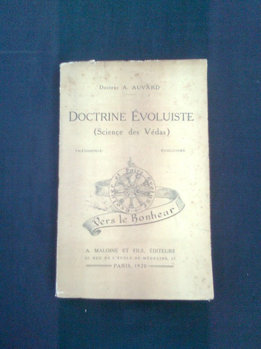 doctrine evoluiste, a. auvard