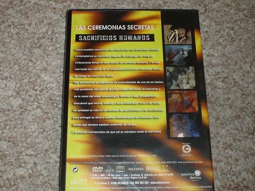 documental dvd ceremonias secretas, sacrificios humanos