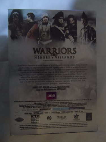 documental warrios heroes y villanos bbc en dvd