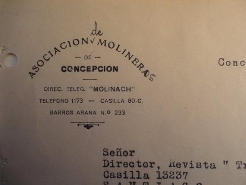 documento antiguo asociación de molineros de concepción 1936