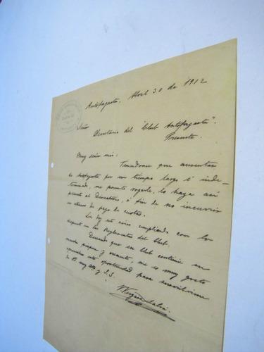 documento antiguo. victor vergara salva. antofagasta. 1912