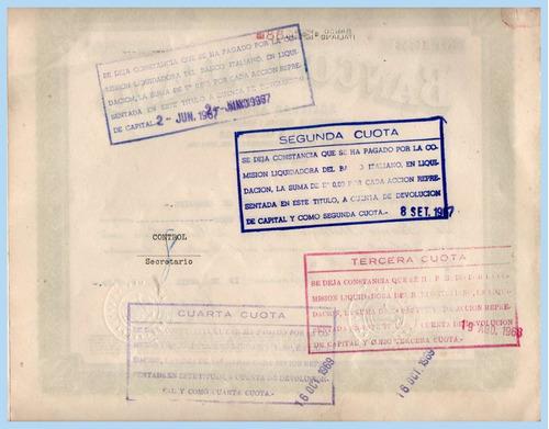 documento banco italiano - chile - 1959.