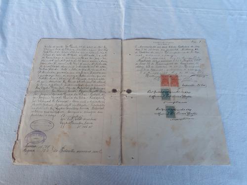 documento compra e venda sg niterói rj 1911 selo fiscal