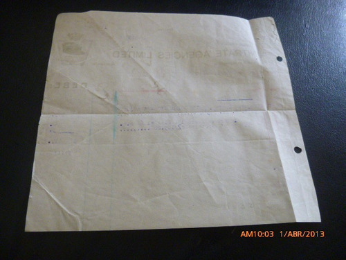 documento de cobro a nitrate agencies limited 1926
