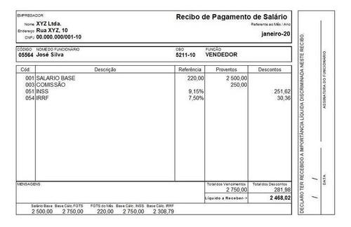 documento de renda editavel
