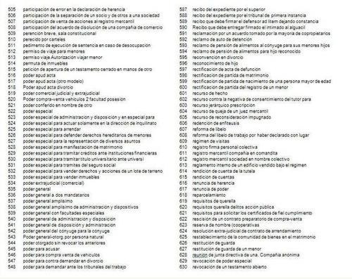 documentos abogado formatos legales