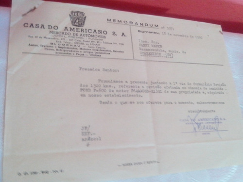 documentos  antigos ford casa do americano com selos