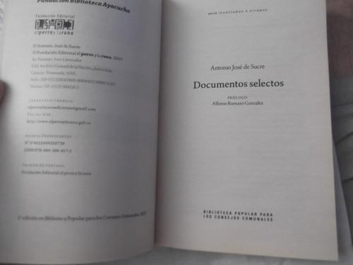 documentos selectos antonio jose de sucre 280 paginas