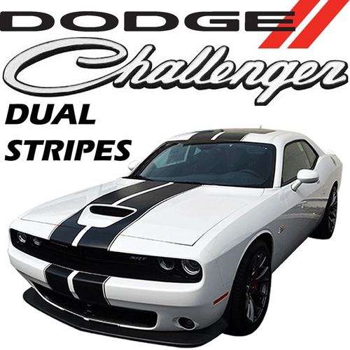 dodge challenger v6 3.6l dual stripes at 5vel 305hp piel rhc