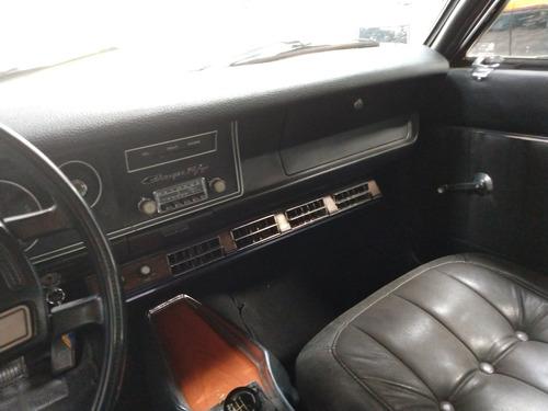 dodge charger r t  - 1973 - placa preta