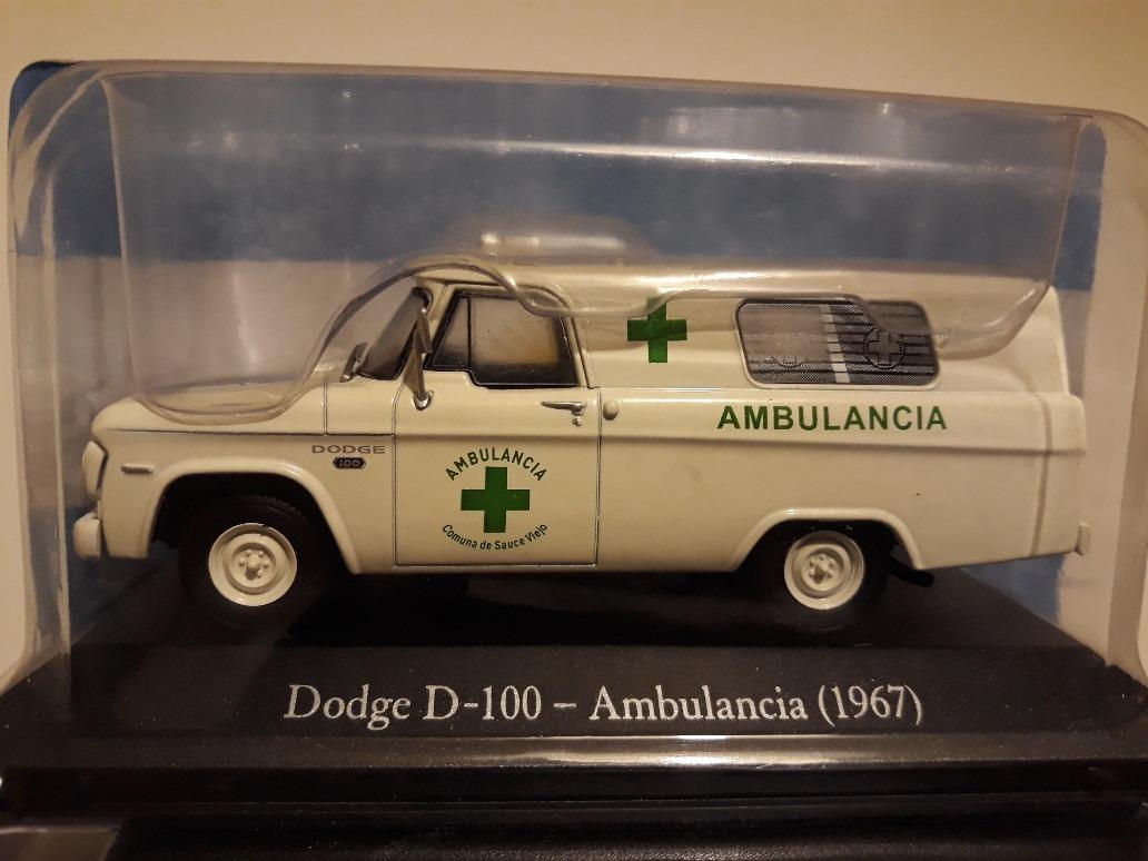 DODGE D-100 AMBULANCIA 1967 SERVICIOS ARGENTINA SALVAT 1:43