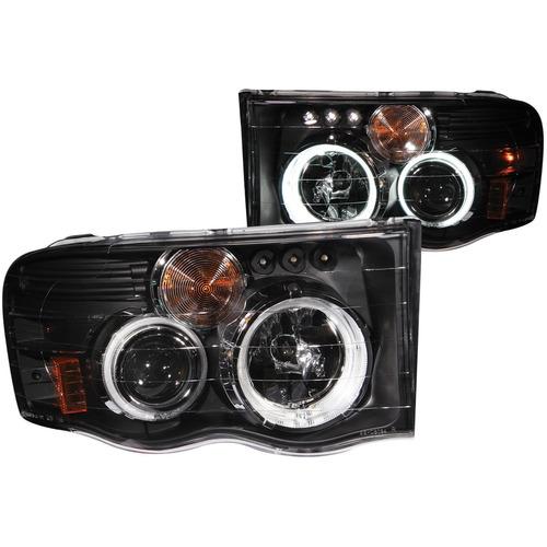 dodge ram 02-05 projector h.l g2 w/o ccfl bar halo black