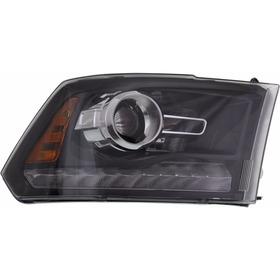 Dodge Ram 2013 - 2014 Faro Derecho Delantero Fondo Negro