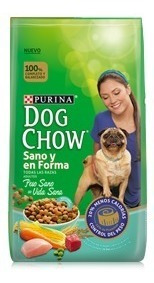 dog chow sano y en forma (light) x 17 kg