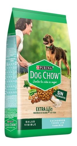 dog chow sin colorantes cachorros med y grand 21kg + regalos
