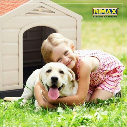 dog house plástico  92x90x89cm rimax, delivery