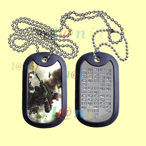 dog tag estilizado - call of duty - imagens diversas