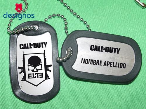dog tag games placa de identificación militar personalizada!