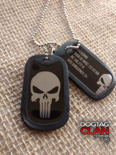 dog tag justiceiro modelo simples