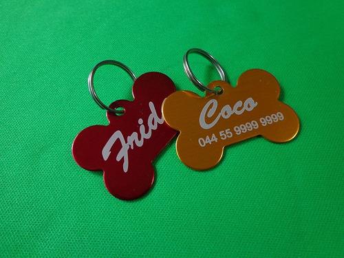 dog tag placa identificación mascotas aluminio grabado láser