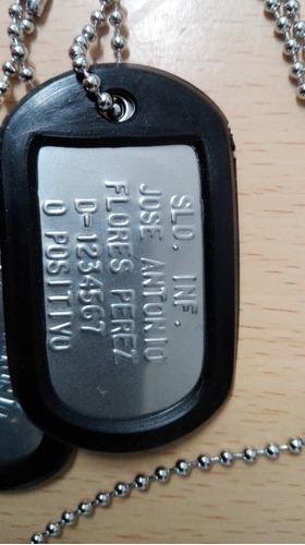 dog tag placa identificacion militar la mejor calidad compar