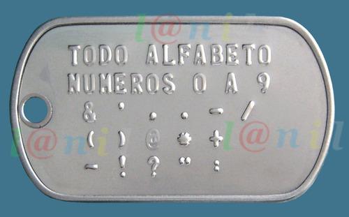 dog tag - placas de identificação - gravação grátis