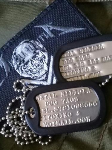 dog tags envío incluido!!placas identificación militares