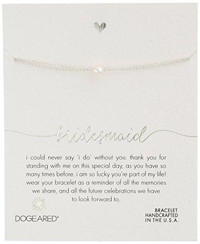 dogeared bridesmaid, pequeña pulsera de perlas de plata, 6