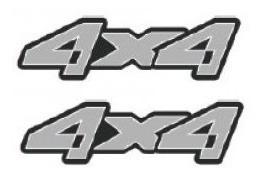 dois adesivos 4x4 ranger cinza + brinde
