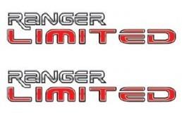 dois adesivos ranger limited ford + brinde