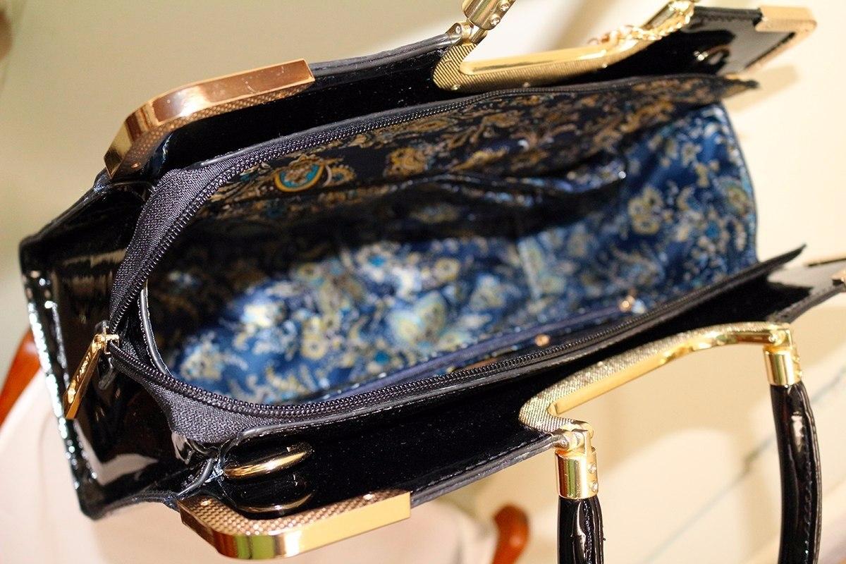 7294b9a79 (dois bolsas)bolsa feminina envernizada social excutivo luxo. Carregando  zoom.