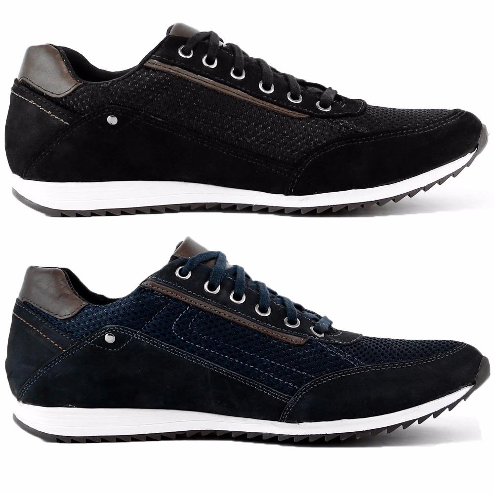 dois pares sapatenis casual couro combina com calça jeans. Carregando zoom. d725cf0474830