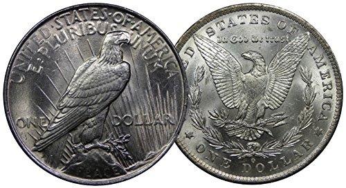 dólar de plata de los e. y paquete de la colección de la mo