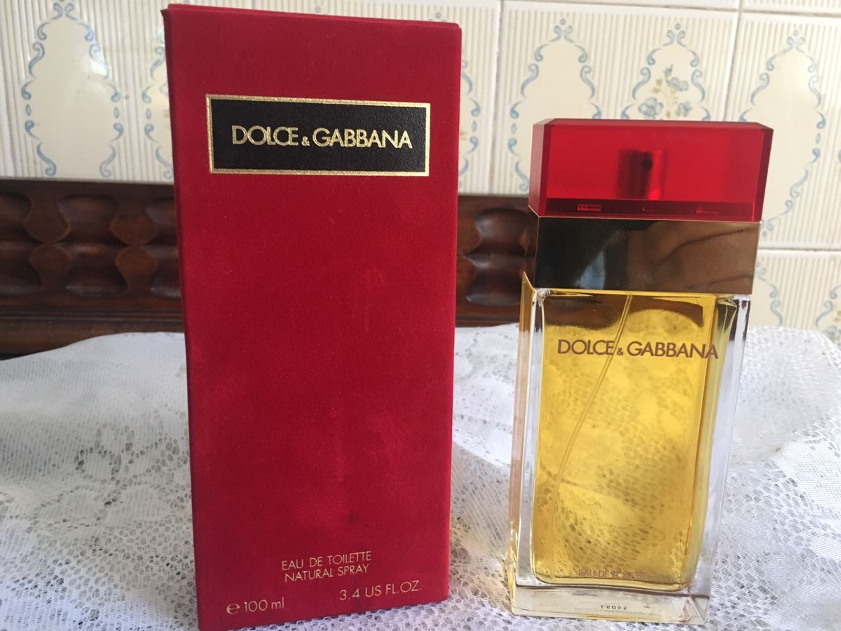 07b7035221da1 dolce gabbana red vintage 100ml peça de coleção raridade. Carregando zoom.