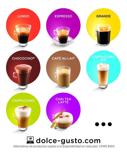 dolce gusto capsulas cappuccino pack x6 cajas