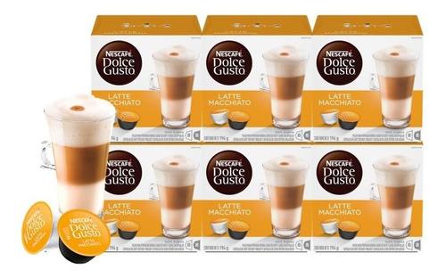 dolce gusto capsulas latte macchiato pack x6 cajas