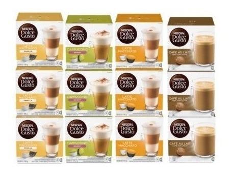 dolce gusto capsulas mix café lacteados pack x12 cajas