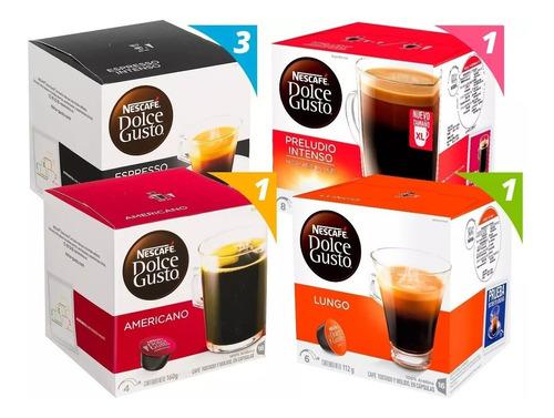 dolce gusto mix café negros pack x6 cajas
