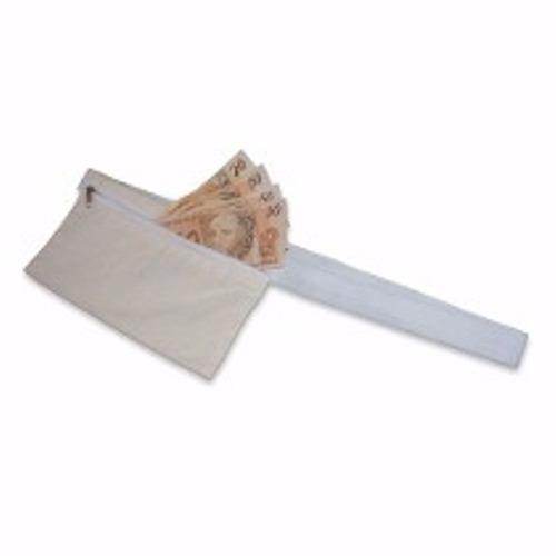 doleira de cintura bolsa para viagens algodão zipper 22x12cm