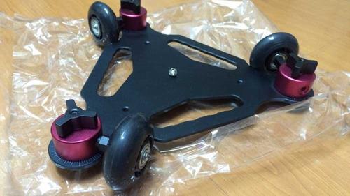 dolly skate 3 ruedas para camaras con escala