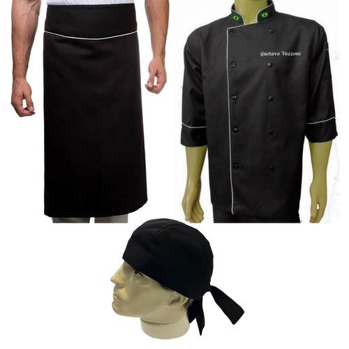 dolma avental bandana chef gastronomia cozinheiro gourmet