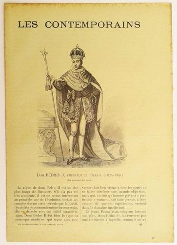 dom pedro ii, antigo jornal francês `les contemporains`.