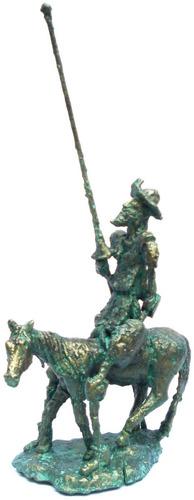 dom quixote a cavalo -01- escultura de alcir scortegagna