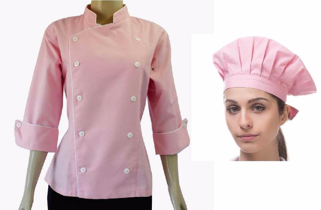 Doma Feminina + Chapéu Gastronomia Confeitaria Dolma Rosa - R  169 ... fc1e55aeafc
