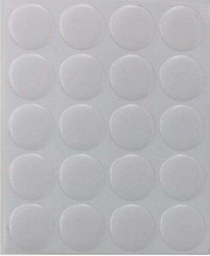 domes 25mm transparentes- etiqueta c/adhesivo.pack 300 unid.