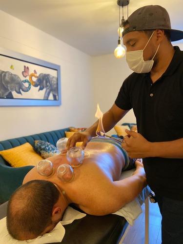 domicilio: masajes, acupuntura, ventosaterapia.