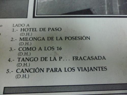 domingo hidalgo disco lp de 12 hotel de paso