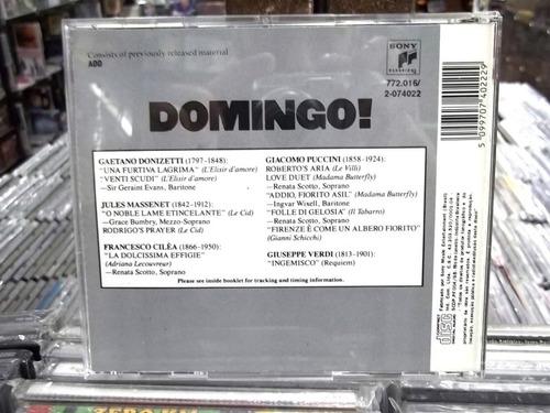 domingo! placido domingo donizetti massenet verdi cilea cd